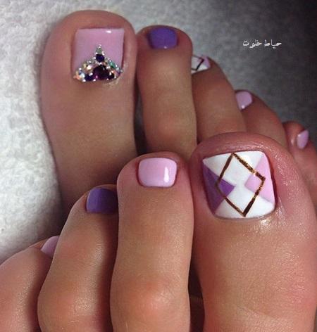 لاک ناخن پا , طراحی ناخن پا جدید