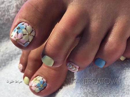 طراحی ناخن پا , مدل های زیبا طراحی ناخن پا