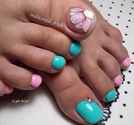 طراحی ناخن پا , طراحی ناخن پا جدید
