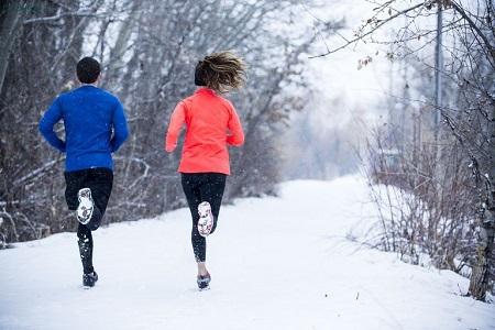 دویدن در هوای سرد