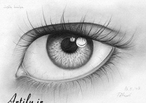 مدل طراحی چشم با مداد