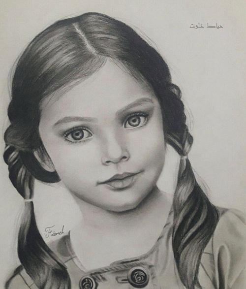Image result for طرح سیاه قلم ساده