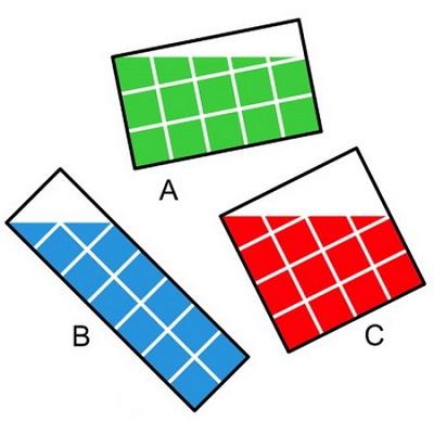 معمای ریاضی؛ کدام شکل مساحت بیشتری دارد؟
