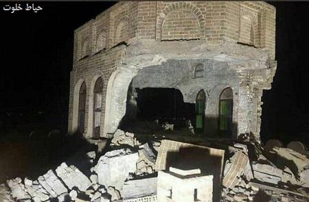 قلعه تاريخي شيروانه در شهرک كلار بر اثر زلزله تخريب شد