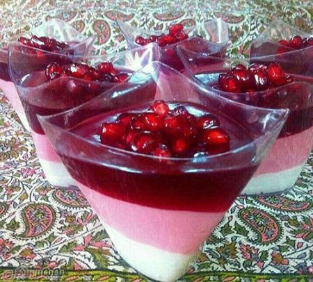 طرز تهیه دسر انار سه رنگ مخصوص شب یلدا