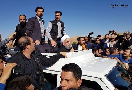 انتقاد آزاده نامداری از رئیس جمهور روحانی به خاطر این عکس!