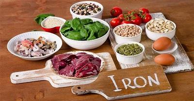 مواد غذایی منبع آهن