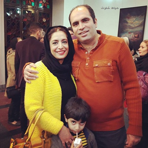 ساناز سماواتی و همسرش