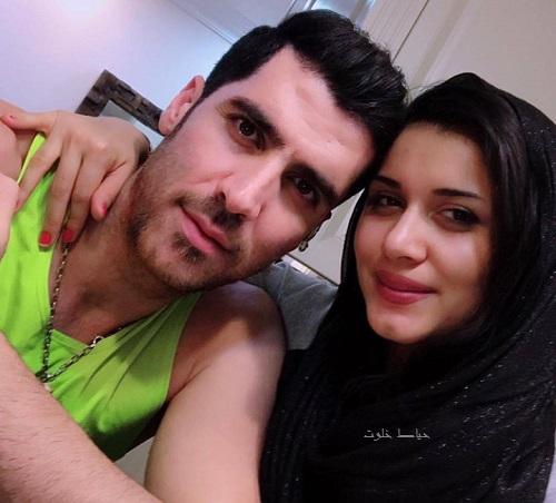 شهرام محمودی و همسرش