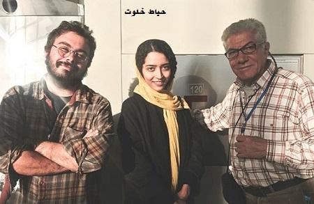 ساغر قناعت در کنار زرين دست و پوريا آذربايجاني