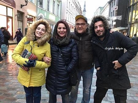 نگار جواهریان و رامبد جوان در کنار نوید محمدزاده و تهمینه میلانی