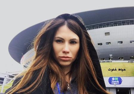 عکس ماریا کوماندنایا مجری زن مراسم قرعه کشی جام جهانی روسیه