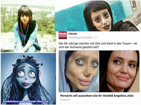 سحر تبر دختری که با 50 عمل جراحی شبیه عروس مردگان شده است!