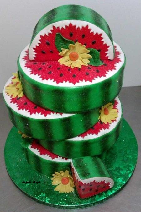 کیک هندوانه ای برای تولد
