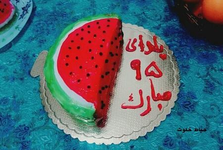 کیک هندوانه ساده برای شب یلدا
