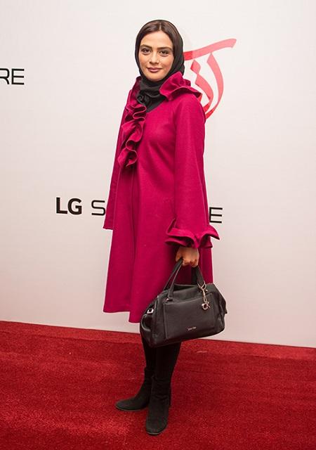 مارال فرجاد در اکران فیلم سینمایی آذر