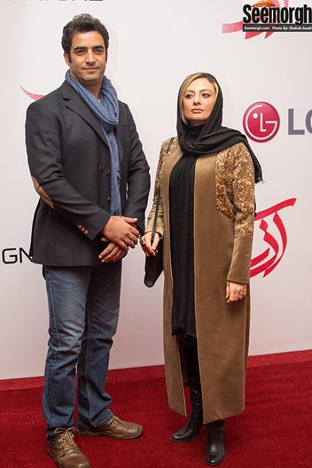 یکتا ناصر و همسرش در اکران فیلم آذر