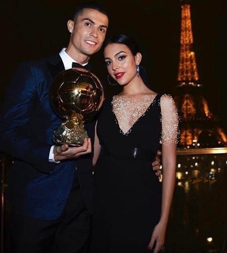رونالدو و دوست دخترش در مراسم توپ طلای 2017