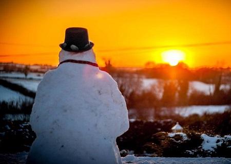عکس پروفایل آدم برفی در زمستان