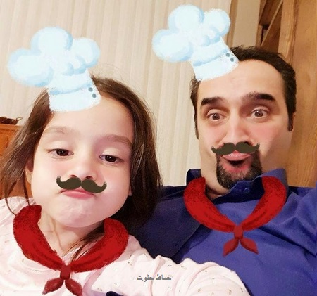 نیما کرمی و دخترش نیل