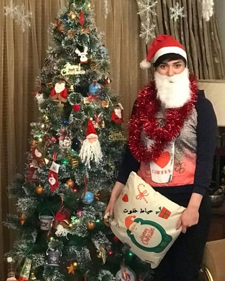 مینا وحید در جشن کریسمس