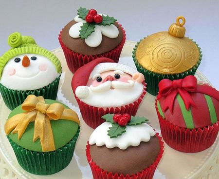 کاپ کیک مخصوص کریسمس