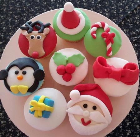 تزئین کاپ کیک Christmas