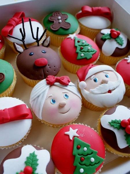 مدل تزئین کاپ کیک مخصوص کریسمس