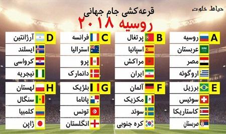 ایران در گروه مرگ جام جهانی 2018 روسیه؛ برنامه بازی های ایران در جام جهانی