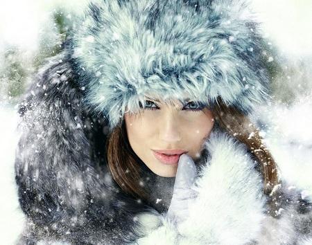 عکس پروفایل دخترانه زمستان و برف