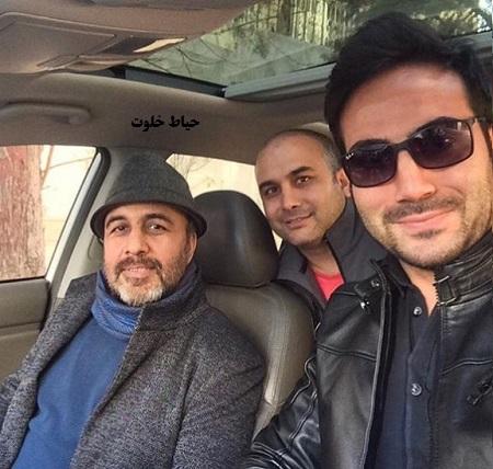رضا عطاران در کنار آریو ملت دوست و یوسف وجدان دوست