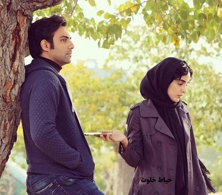 بابک انصاری و الهه حصاری در نمایی از فیلم سینمایی ترانه