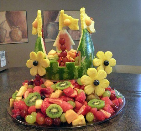 میوه آرایی شیک برای شب یلدا