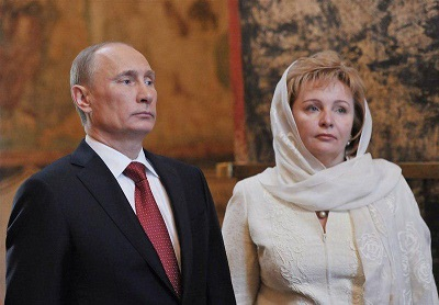پوتین و همسرش
