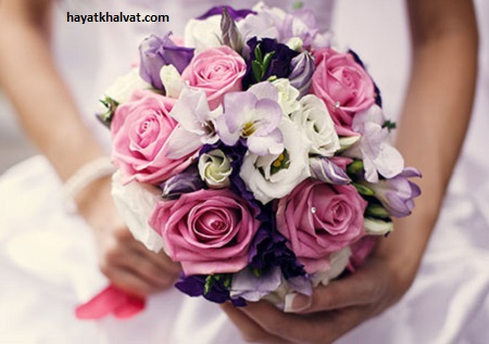 دسته گل عروس ساده و زیبا