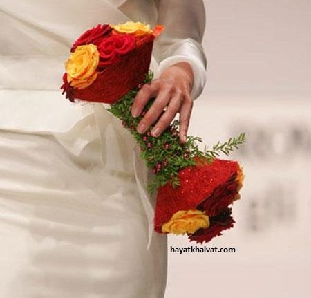 دسته گل عروس شیک و زیبا