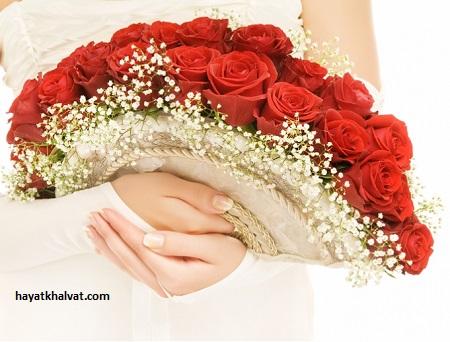 دسته گل عروس مدل بادبزنی