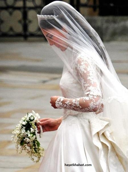 دسته گل عروس کیت میدلتون عروس خانواده سلطنتی انگلستان