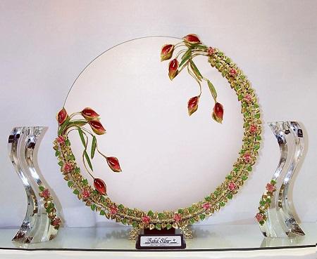 جدیدترین مدل های آیینه و شمعدان عروسی