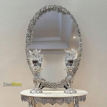 تصاویر مدل های جدید آیینه و شمعدان عروسی