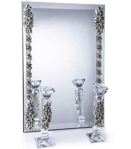 مدل جدید آیینه و شمعدان عروسی