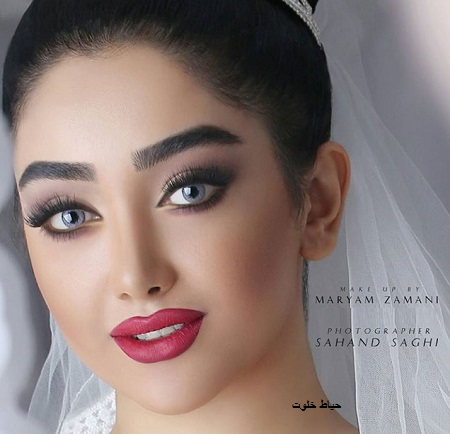 آرایش عروس با موی مشکی