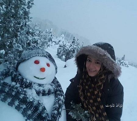 بازیگران در برف