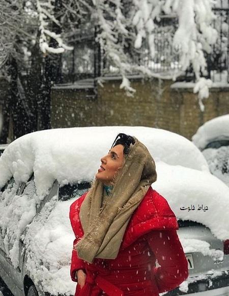 جدیدترین عکس های بازیگران در برف