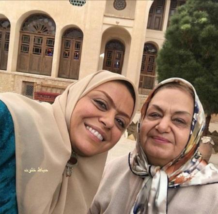 شبنم فرشادجو و مادرش