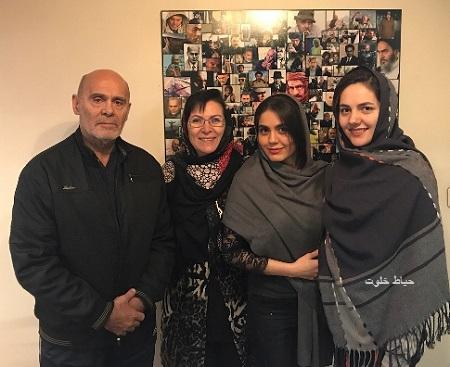 جمشید هاشم پور و همسرش