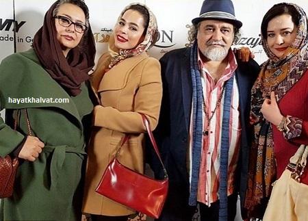 خانواده شریفی نیا در کنار هم در رونمایی از مجله پژواک هنر
