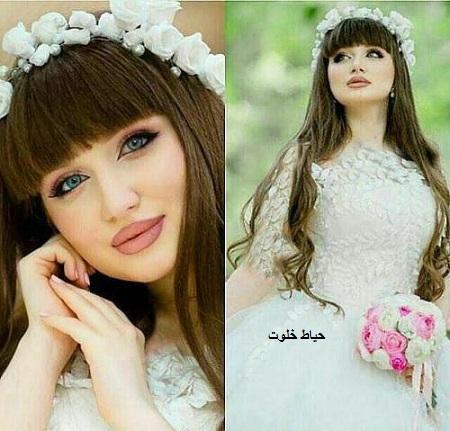عروس با موی چتری , مدل های جدید آرایش عروس