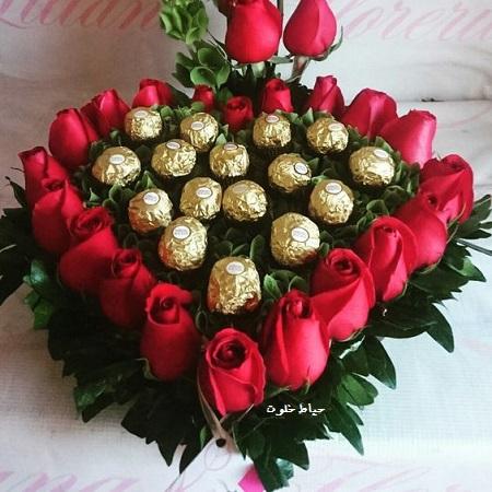 باکس گل و شکلات برای ولنتاین