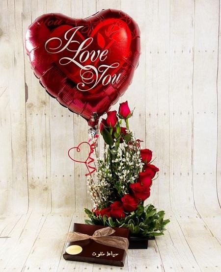 دسته گل مخصوص ولنتاین